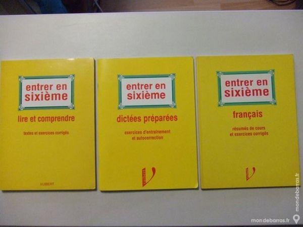 Cahiers de soutien et de rattrapage  entrée en 6°  3 Strasbourg (67)