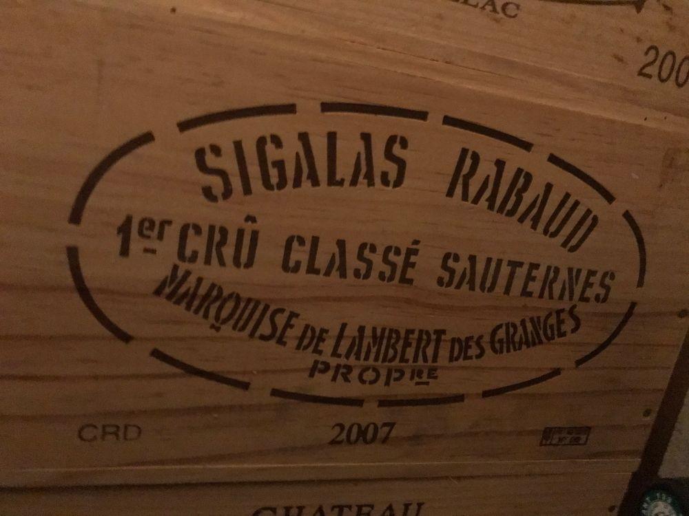 Caisse SAUTERNES GCC SIGALAS RABAUD 2007 260 Saint-Rémy-de-Blot (63)