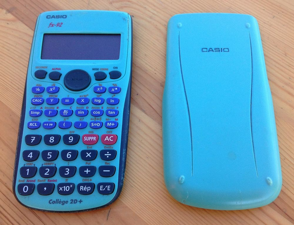 Calculatrice College Casio FX-92 20 Rousson (30)