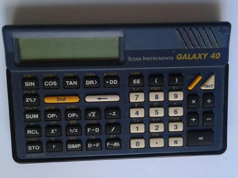 Calculatrice TI Galaxy 40 scientific 5 Arpajon (91)