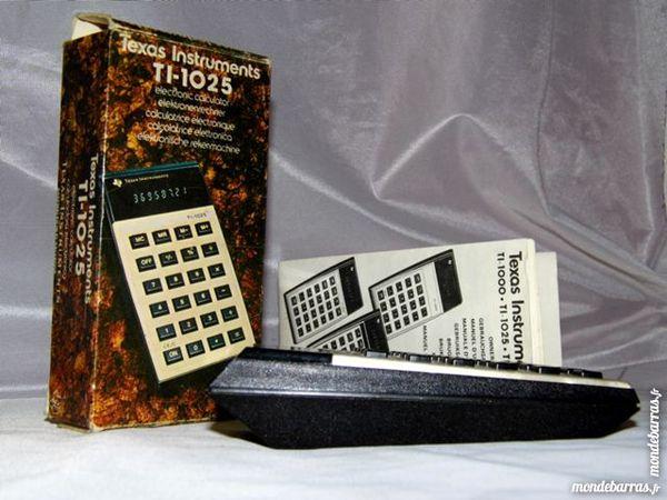 Calculatrice TEXAS INSTRUMENT TI-1025 vintage 1977 Consoles et jeux vidéos