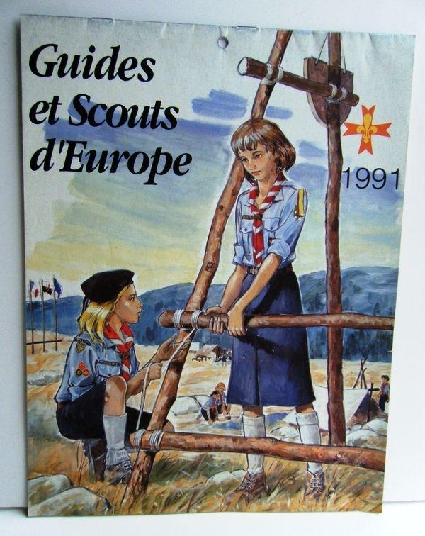 CALENDRIER 1991 GUIDES & SCOUTS D'EUROPE 12 La Celle-sur-Morin (77)