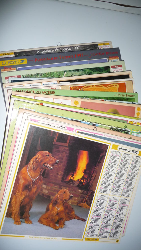 Calendriers P.T.T. - 1990-1997 (lot de 22) 18 Nancy (54)