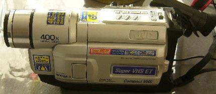 camescope S-VHS ET cassettes VHSC JVC GR-SXM27E à réviser 60 Versailles (78)