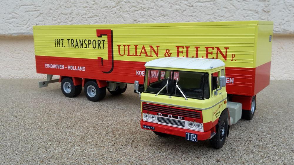 Camion Daf 2600 + semi-remorque fourgon 42 Follainville-Dennemont (78)