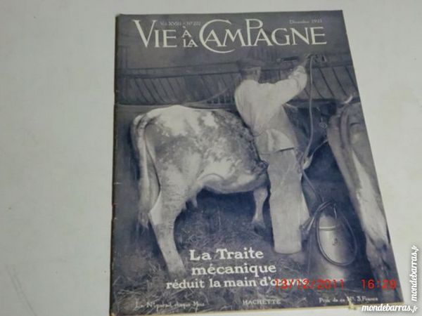 vie à la campagne N°222 decembre 1921 5 Grézieu-la-Varenne (69)
