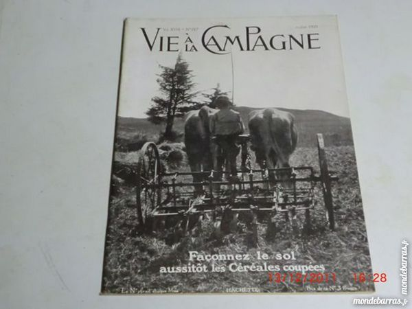 vie a la campagne N°217 de juillet 1921 p13 Livres et BD