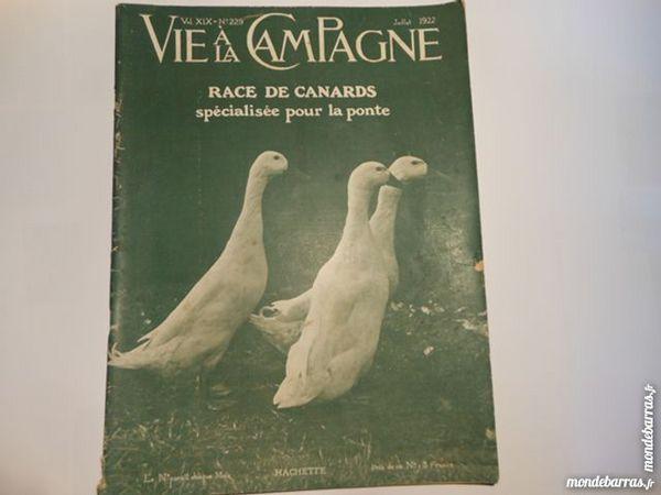 vie à la campagne N°229 juillet 1922 Livres et BD