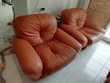 Canapé 2ou3 pls modulable+ 2 fauteuils en cuir Meubles