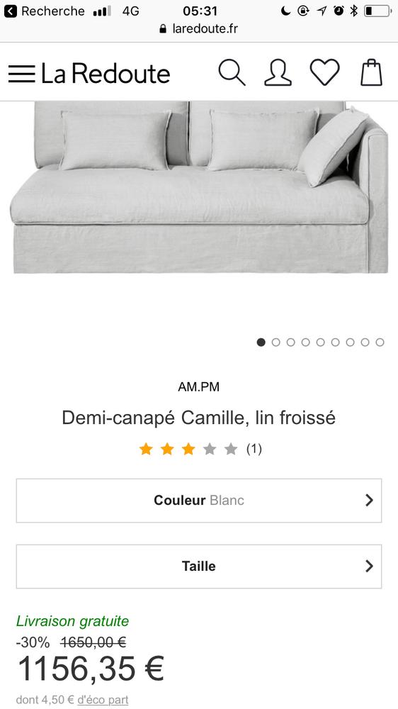 canapé d angle AMPM anthracite magnifique lin - 0 Paris 3 (75)