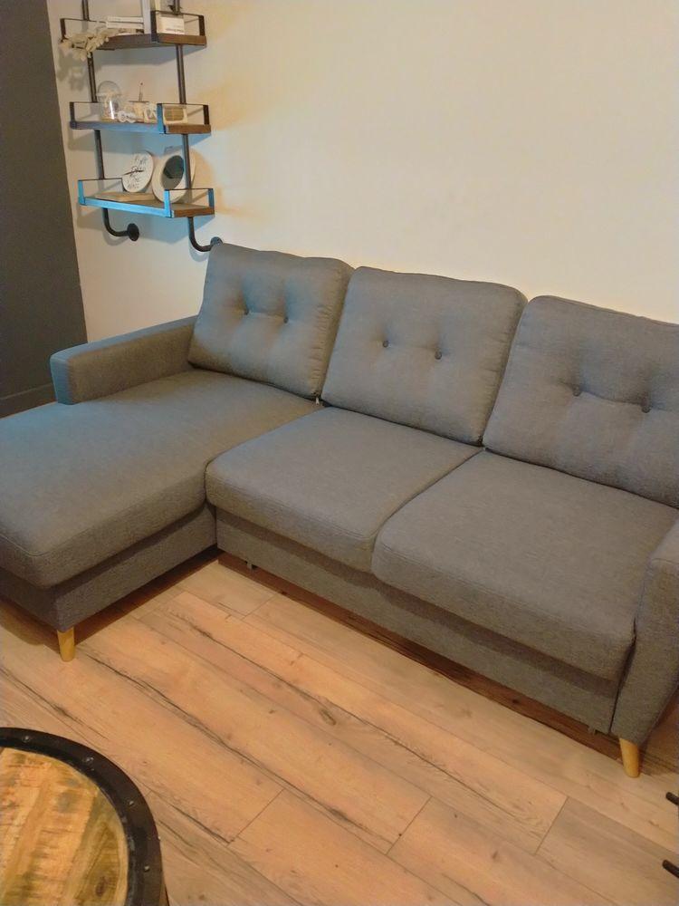 Canapé d'angle BOBOCHIC modèle OSLO gris anthracite  450 Trith-Saint-Léger (59)