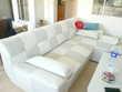 Canapé d'angle convertible blanc gris ICE