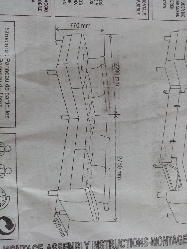 canapé angle convertible gris en tissu 600 Cros De Cagnes (06)