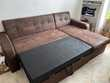 Canapé d'angle convertible marron Meubles