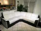 Canapé d'angle cuir  1400 Cogolin (83)