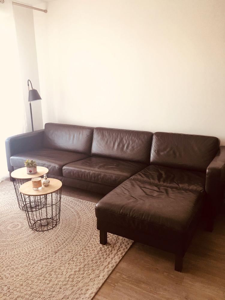 Canape d'angle cuir marron 400 Aix-en-Provence (13)