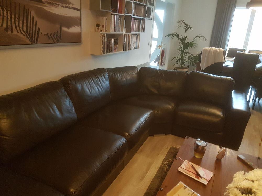 canapé d angle en cuir marron  650 Le Thillay (95)