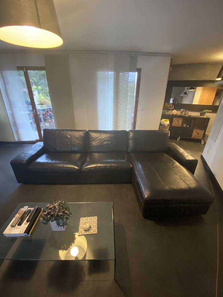 Canapé d'angle cuir noir excellent état ikea Kivik  499 Maisons-Alfort (94)