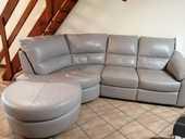 Canapé angle cuir gris  500 Vallesvilles (31)