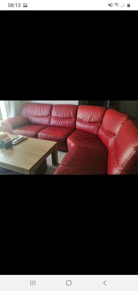 canapé d'angle en cuir rouge  500 Sallèles-d'Aude (11)