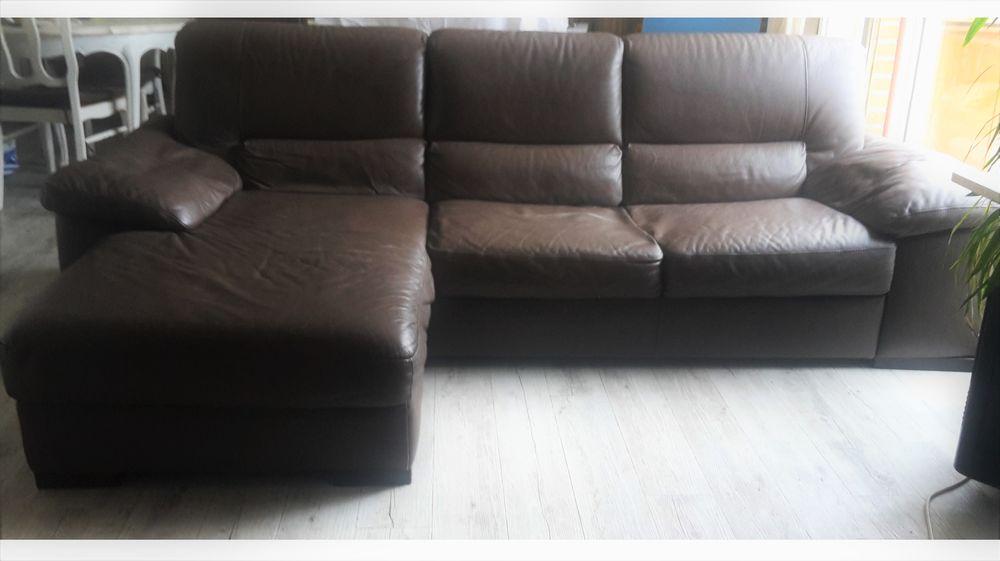 Canapé d'angle en cuir 500 euros 500 Annœullin (59)