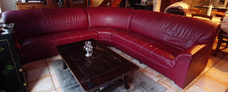 Canapé d'angle en cuir 150 Fongrave (47)