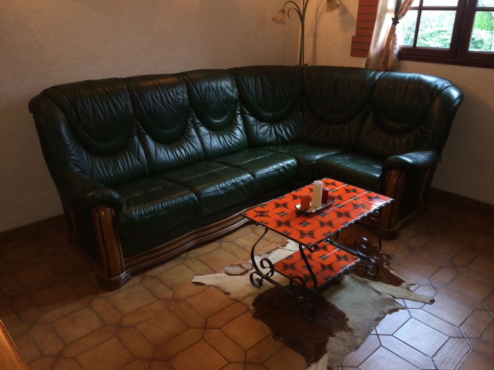 Canapé d'angle cuir  450 Roques (31)
