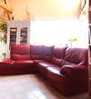 Canapé d'angle  en cuir rouge 500 Guérande (44)