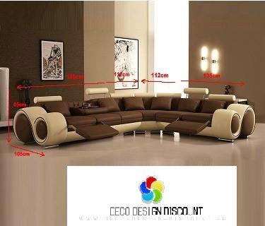 57124a8546f Canape angle design cuir  boston  en stock neuf PAYER EN 3 ou 4 FOIS