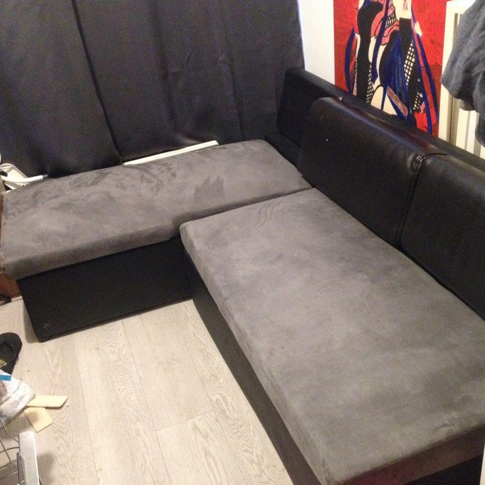 canape d angle gris et noire 250 Melun (77)