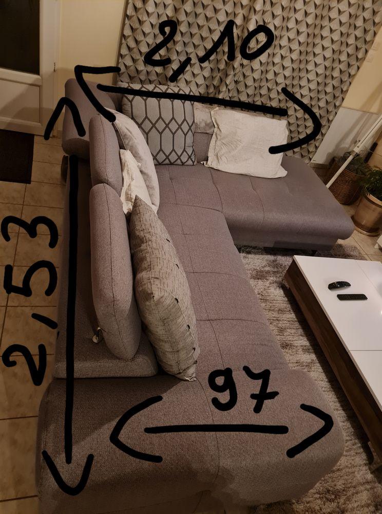canapé d'angle gris en très bon état 450 Moëlan-sur-Mer (29)