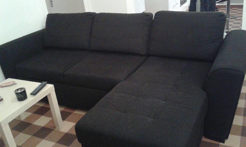 Canapé d'angle noir convertible 300 Carcassonne (11)