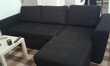 Canapé d'angle noir convertible Meubles