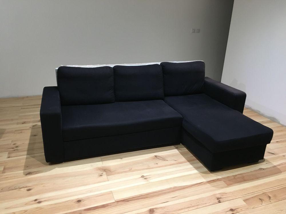 Canapé d'angle noir Bon état 250 Vienne (38)
