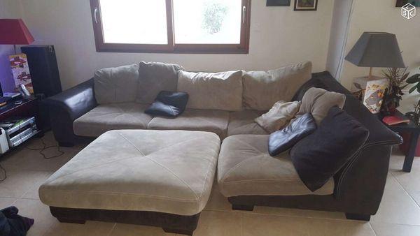 canap s cuir angle occasion dans le finist re 29 annonces achat et vente de canap s cuir. Black Bedroom Furniture Sets. Home Design Ideas