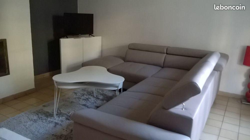 canapé d'angle 7 places avec méridienne excellent état 0 Narbonne (11)