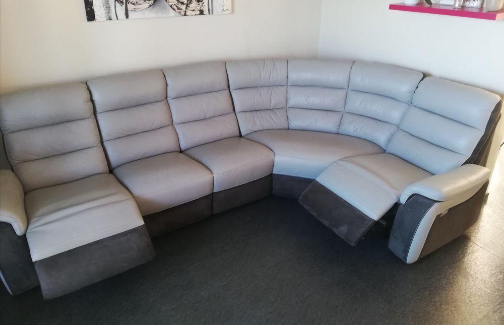 Canapé d'angle a relaxe électrique en cuir et daim  0 Marseille 13 (13)