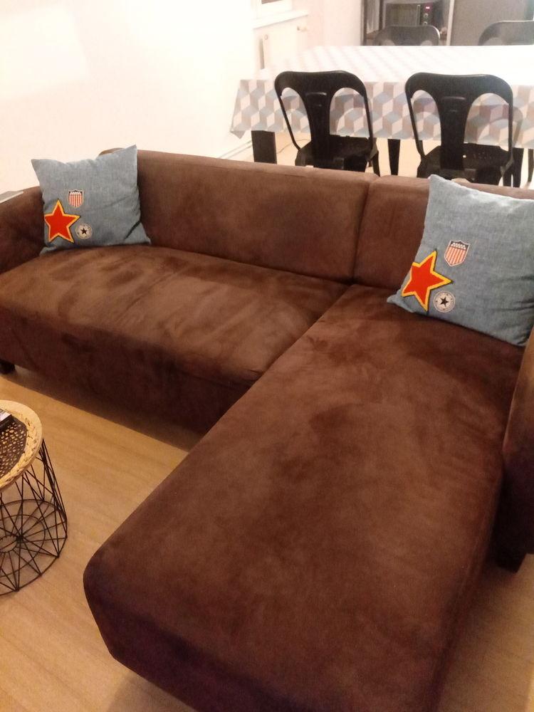canapé d'angle style industriel en tissu marron 150 Clermont-Ferrand (63)