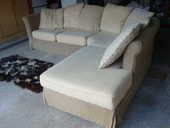 canapé angle en tissu lin beige   150 Villenave-d'Ornon (33)