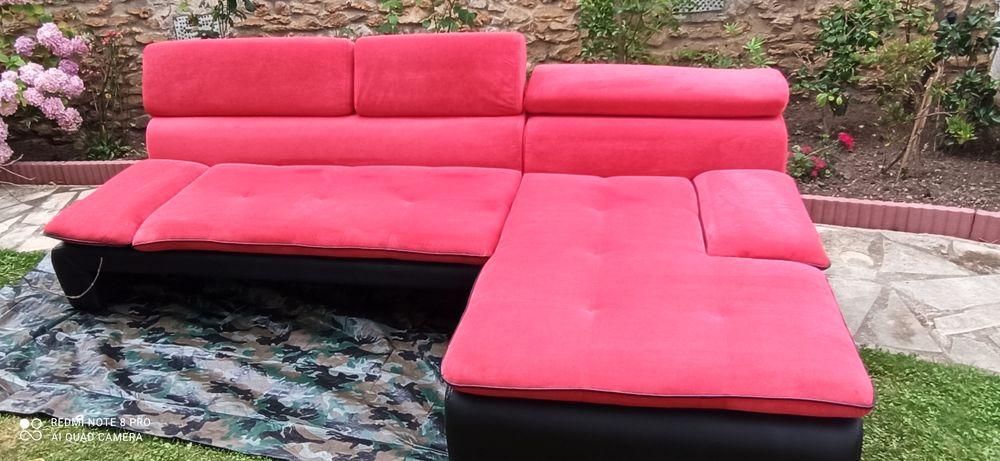 Canapé d'angle tissus et simili cuir 450 Brunoy (91)