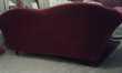 Canape baroque rouge en velours Meubles