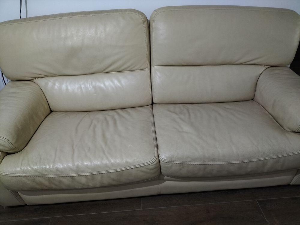 Canapé beige et vrai cuir 400 Neuilly-Plaisance (93)