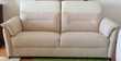 Canape blanc Lin cuir et Tissu NEUF 3 places