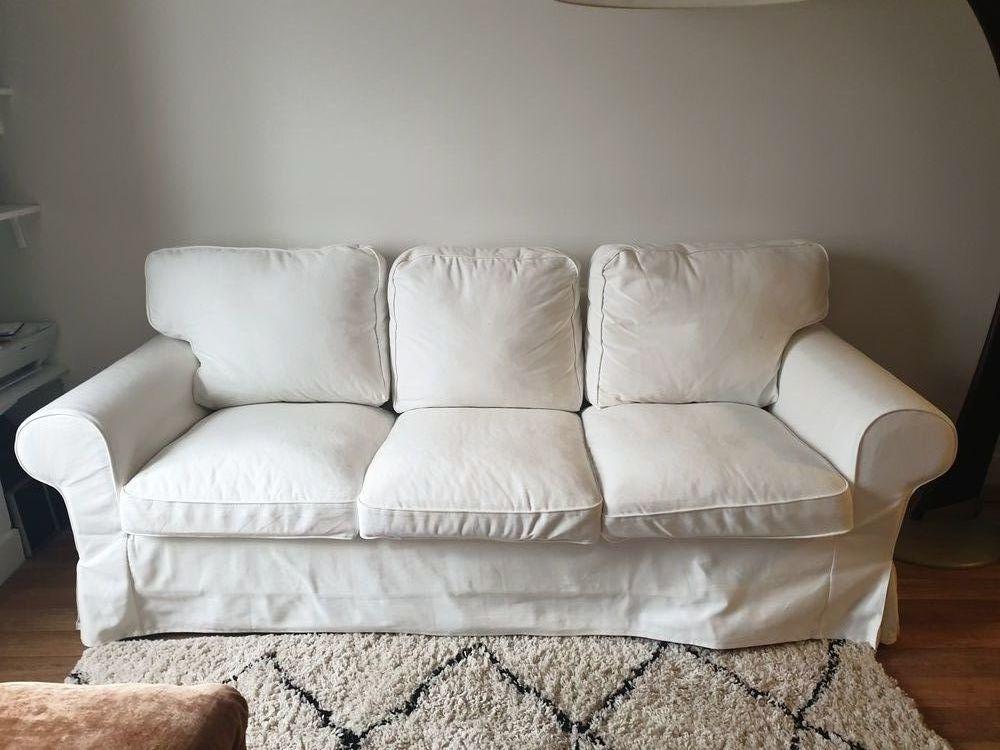 Canape blanc ikea ektorp dehoussable magnifique 200 Paris 10 (75)