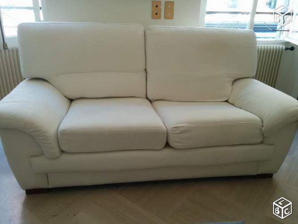 Achetez canap blanc tr s occasion annonce vente nice for Canape tres confortable