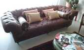 CANAPE  CHESTERFIELD  couleur brun 1300 Cannes (06)