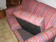 Canapé Chesterfield 2/3 plac tissus basin bandes de couleurs Meubles