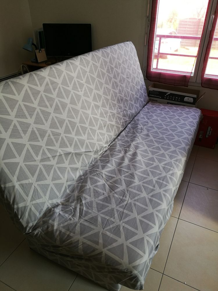 Canapé lit Clic Clac matelas 17cm, avec housse et coussins 200 Vigneux-sur-Seine (91)