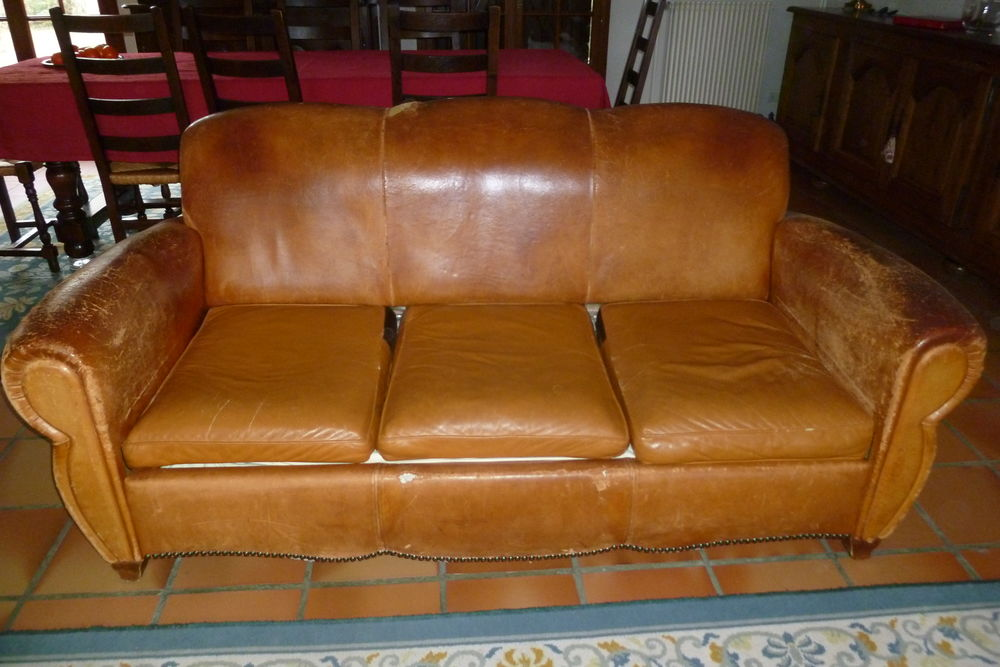 Achetez canap club cuir occasion annonce vente orainville 02 wb155175965 - Canape interiors occasion ...