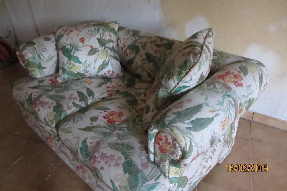 canapé confortable en tissu satin  ,imprimé exotique 110 Marcq-en-Barœul (59)